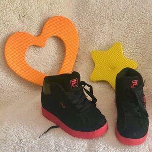 Fila Toddler OXIDIZE 2, Black/Red, 10.5